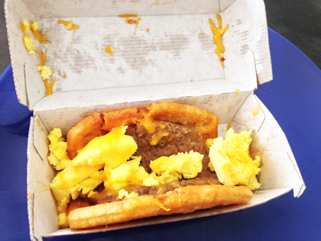 Taco Bell Breakfast Waffle Taco with Sausage